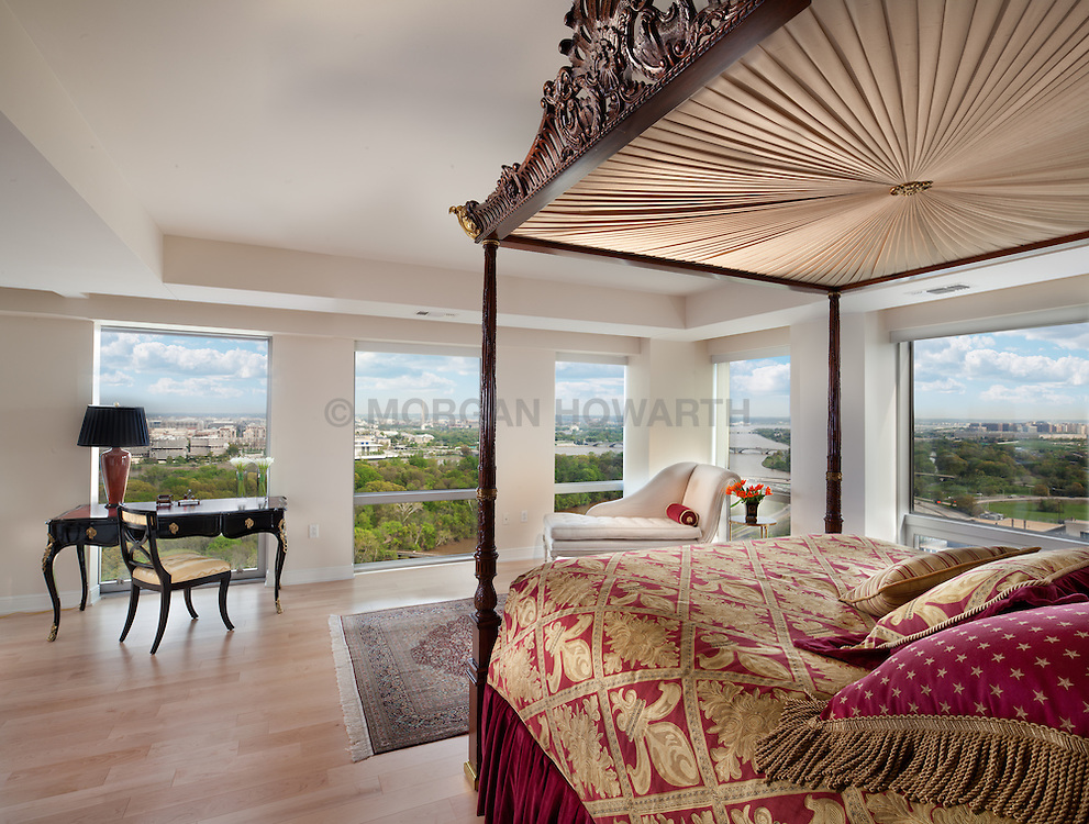 1111 19th Street North Arlington Virginia designer Jeff Aksiezer condominium Master Bedroom