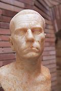 Bust of elderly man, Museo Nacional de Arte Romano, national museum of Roman art, Merida, Extremadura, Spain 1st century AD