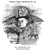 Punch's Fancy Portraits. No 48. Mr Bradlaugh, MP, The Northampton Cherub.