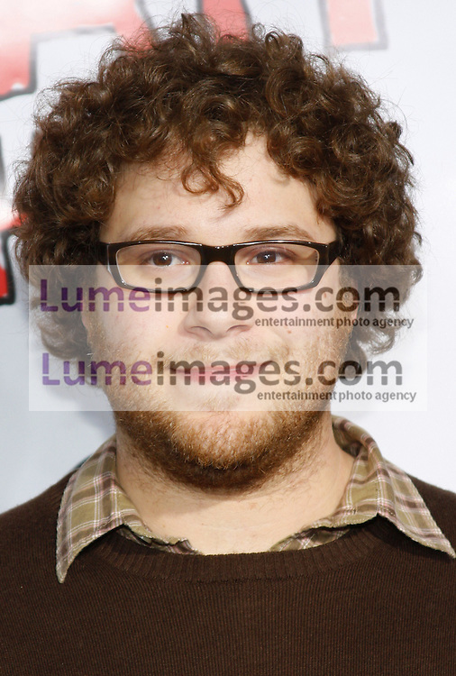 """Seth Rogen attends the World Premiere of """"Forgetting Sarah Marshall"""" held at the Grauman's Chinese Theater in Hollywood, California, United States on April 10, 2008."""