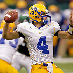 Sep 26, 2009; New Orleans, LA, USA; McNesse State Cowboys quarterback Derrick Fourroux (4) throws a pass against the Tulane Green Wave at the Louisiana Superdome. Tulane defeated McNeese State 42-32. Mandatory Credit: Derick E. Hingle-US PRESSWIRE