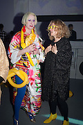 JULIE VERHOEVEN; ALISON GOLDFRAPP; , Pop party. the birthday celebration of twin sisters Valeria Napoleone and Stefania Pramma. Studio Voltaire, London SW4. 17 May 2013.