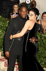 May 7, 2018 - New York City, New York, U.S. - TRAVIS SCOTT and KYLIE JENNER attend the Costume Institute Benefit celebrating the opening of Heavenly Bodies: Fashion and the Catholic Imagination exhibit held at at The Metropolitan Museum of Art. (Credit Image: © Nancy Kaszerman via ZUMA Wire)