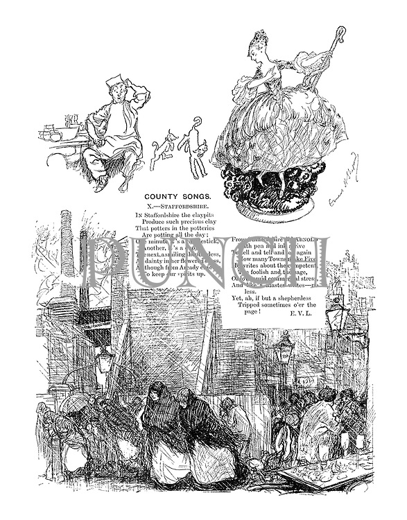 County Songs. X. Staffordshire. (Illustrated poem)