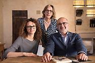 Daniela Amoroso, Marisa Amoroso and Fernando Ponte respectively architect designer and owners of the Corte San Pietro Hotel