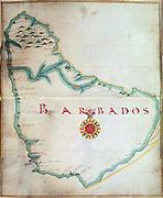 Map of Barbados, 1683. British Museum