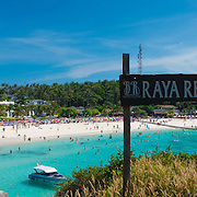 Panorama of the beach from Raya resort, Raya island, Thailand
