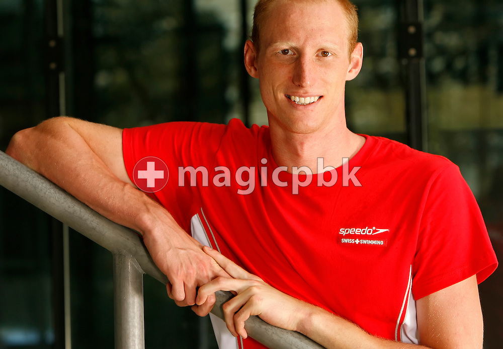 Swimmer Karel Novy of Switzerland poses during a portrait session of the Swiss team for the 2006 European Championships at St. Jakob Sportbad in Basel, Switzerland, Saturday July 22, 2006. (Photo by Patrick B. Kraemer / MAGICPBK)