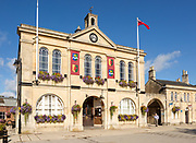 Historic town hall building, Melksham, Wiltshire, England, UK built 1847