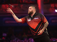 Michael Smith during the PDC BetVictor World Matchplay Darts 2021 tournament at Winter Gardens, Blackpool, United Kingdom on 23 July 2021.
