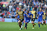 Tom Lees, the captain of Sheffield Wednesday (15)  in action. EFL Skybet championship match, Cardiff city v Sheffield Wednesday at the Cardiff City Stadium in Cardiff, South Wales on Saturday 16th September 2017.<br /> pic by Andrew Orchard, Andrew Orchard sports photography.