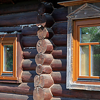 Europe, Russia, Suzdal. Wooden building in Pokrovsky monastery.