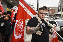 August 19, 2017 - Boston, Mssachusetts, United States - Thousands of Counter Protesters gathered around Reggie Lewis Center to get ready for antifascist protest march to Boston Common in Boston, Mssachusetts on Saturday August 19, 2017..8/19/2017.Boston, Mssachusetts.Go Nakamura/Zuma Wire (Credit Image: © Go Nakamura via ZUMA Wire)