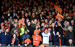 Luton Town fans during the Sky Bet League One match at Kenilworth Road, Luton.
