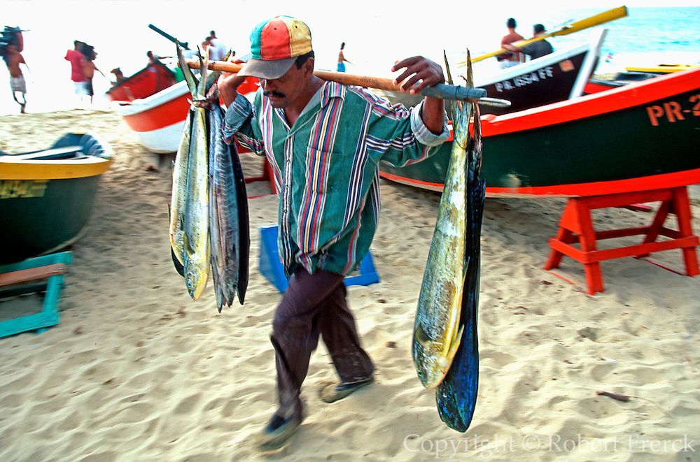 PUERTO RICO, INDUSTRY Fisherman unloading their catch near Aguadilla in the northwest corner of the island
