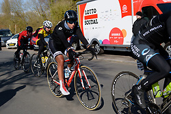 Kelly Druyts begins the final lap at Le Samyn des Dames 2018 - a 103 km road race on February 27, 2018, from Quaregnon to Dour, Belgium. (Photo by Sean Robinson/Velofocus.com)