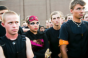 The Oregon Marching Band, collectively known as Shadow Armada, is seen on the day of their last show at home in Oregon, Wisconsin on July 3, 2012.
