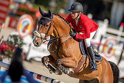 Schnieper Barbara, SUI, Dickens II<br /> Longines FEI Jumping Nations Cup™ Final<br /> Barcelona 20128<br /> © Hippo Foto - Dirk Caremans<br /> 05/10/2018
