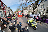 Football - 2020 / 2021 Premier League - Liverpool vs Newcastle United - Anfield<br /> <br /> Scenes outside Anfield ahead of todays match as the Liverpool FC coach arrives