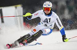 26.01.2016, Planai, Schladming, AUT, FIS Weltcup Ski Alpin, Schladming, Slalom, Herren, 1. Durchgang, im Bild Mattias Hargin (SWE) // Mattias Hargin of Sweden competes during his 1st run of men's Slalom Race of Schladming FIS Ski Alpine World Cup at the Planai in Schladming, Austria on 2016/01/26. EXPA Pictures © 2016, PhotoCredit: EXPA/ Erich Spiess