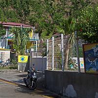 France, Guadeloupe, Les Saintes. Main street of Bourg des Saintes, Guadeloupe.