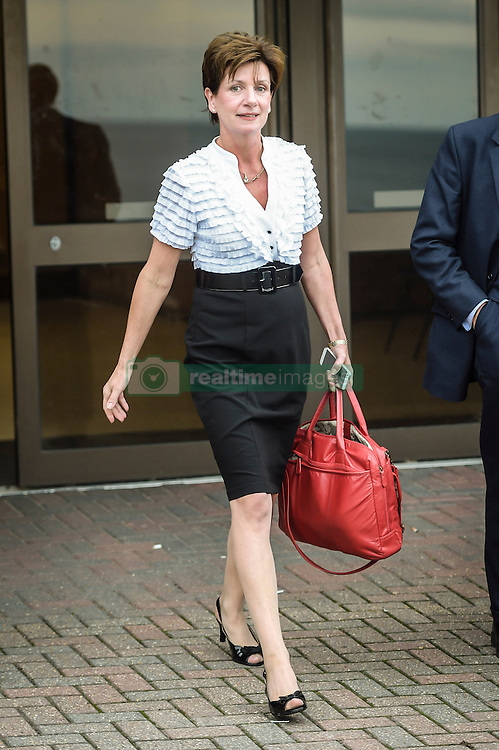 Ukip leader Diane James leaves the Ukip annual conference in Bournemouth.
