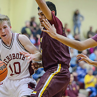 Rehoboth Lynx Lance McMullin (10) pushes past Tohatchi Cougar Karlex Capitan (24) Tuesday at Rehoboth High School.