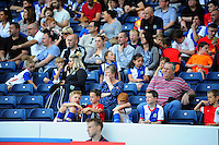Blackburn Rovers fans in the new family section of Ewood Park<br /> <br /> Photographer Chris Vaughan/CameraSport<br /> <br /> Football - The EFL Sky Bet Championship - Blackburn Rovers v Norwich City - Saturday 6th August 2016 - Ewood Park - Blackburn<br /> <br /> World Copyright © 2016 CameraSport. All rights reserved. 43 Linden Ave. Countesthorpe. Leicester. England. LE8 5PG - Tel: +44 (0) 116 277 4147 - admin@camerasport.com - www.camerasport.com
