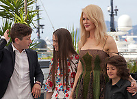 Barry Keoghan, Raffey Cassidy, Nicole Kidman and Sunny Suljic at  The Killing of a Sacred Deer  film photo call at the 70th Cannes Film Festival Monday 22nd May 2017, Cannes, France. Photo credit: Doreen Kennedy