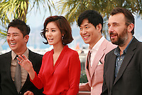 Director Chang, Actress Kim Sun-Ryoung, Yu Jun-Sang and Frédéric Cavayé at the photo call for the film The Target at the 67th Cannes Film Festival, Friday 23rd May 2014, Cannes, France.