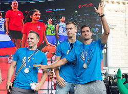Gregor Ropret during the Day for the medals: Reception of Slovenian sport heroes on 30.9.2019 on Kongresni square, Ljubljana, Slovenia. Photo by Urban Meglič / Sportida