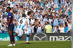 September 15, 2018 - Aritz (defender; Real Sociedad) during the Spanish football of La Liga Santander, match between Real Sociedad and FC Barcelona at the Anoeta stadium, in San Sebastian, Spain, on Saturday, September 15, 2018. (Credit Image: © AFP7 via ZUMA Wire)
