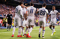 Real Madrid's player Morata, Gareth Bale, Nacho, Luka Modric, Asensio and Danilo during the XXXVII Santiago Bernabeu Trophy in Madrid. August 16, Spain. 2016. (ALTERPHOTOS/BorjaB.Hojas)