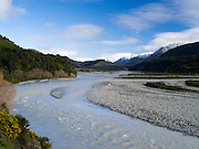 View of the Hope River along Highway 7 on the way to Lewis Pass, Canterbury, New Zealand; June 2013