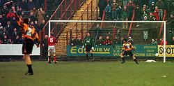 Berwick's goal, Falkirk v Berwick Rangers, 25/1/1997..Pic : Michael Schofield.