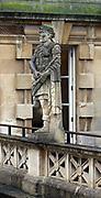 21st century statue of Roman Caesar erected at the Roman Baths in Bath, England