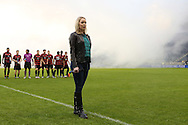 13 December 2015: National anthem singer. The Clemson University Tigers played the Stanford University Cardinal at Sporting Park in Kansas City, Kansas in the 2015 NCAA Division I Men's College Cup championship match. Stanford won the game 4-0.