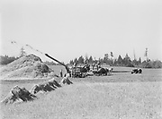 9969-3273. Threshing oats on the Hagg farm, view from the field. September 10, 1937. Reedville, Washington county, Oregon