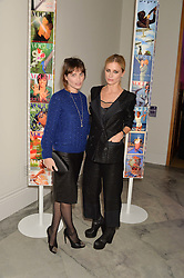 Left to right, SHEHERAZADE GOLDSMITH and LAURA BAILEY at the Alexandra Shulman and Leon Max hosted opening of Vogue 100: A Century of Style at The National Portrait Gallery, London on 9th February 2016.
