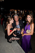 VIOLET NAYLOR-LEYLAND; NICKY HASLAM; OLIVIA COLE, Alexandra Shulman, Editor of Vogue & Phil Popham, Managing Director of Land Rover<br /> host the 40th Anniversary of Range Rover. The Orangery at Kensington Palace. London. 1 July 2010. -DO NOT ARCHIVE-© Copyright Photograph by Dafydd Jones. 248 Clapham Rd. London SW9 0PZ. Tel 0207 820 0771. www.dafjones.com.