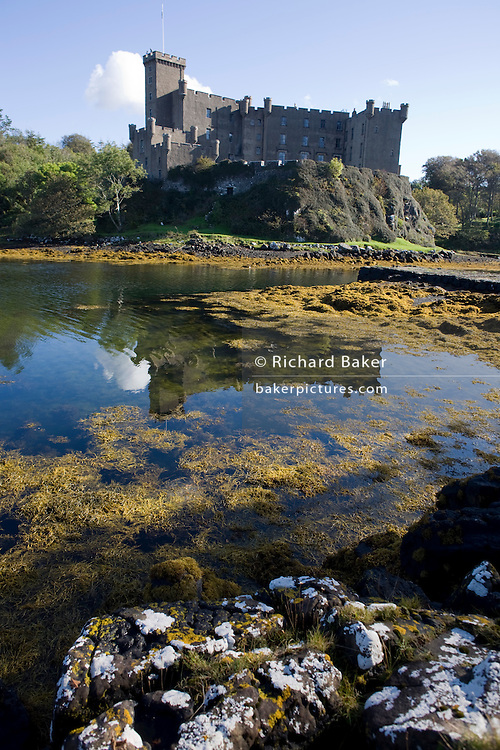 The ancestral stronghold of the Scottish clan MacLeod, Dunvegan Castle, now owned by 30th Chief Hugh MacLeod on Isle of Skye.