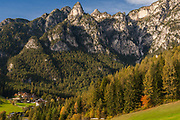 Tyrolian Hotel, October, Dolomite Mountains, South Tyrol, Italy