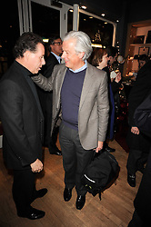 Left to right, VISCOUNT LINLEY and LORD KENILWORTH  at a party to celebrate 25 years of the David Linley store , 60 Pimlico Road, London on 16th November 2010.