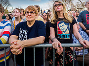 """16 APRIL 2019 - DES MOINES, IOWA: People listen to Pete Buttigieg during a rally for Buttigieg, the mayor of South Bend, Indiana. """"Mayor Pete,"""" as he goes by, declared his candidacy to be the Democratic nominee for the US Presidency on April 14. About 1,000 people attended his first rally in Iowa since officially declaring his candidacy. Iowa traditionally hosts the the first selection event of the presidential election cycle. The Iowa Caucuses will be on Feb. 3, 2020.                PHOTO BY JACK KURTZ"""