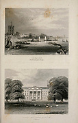Chelsea from Battersea Bridge and Royal Military Asylum,  London From the book Illustrated London, or a series of views in the British metropolis and its vicinity, engraved by Albert Henry Payne, from original drawings. The historical, topographical and miscellanious notices by Bicknell, W. I; Payne, A. H. (Albert Henry), 1812-1902 Published in London in 1846 by E.T. Brain & Co