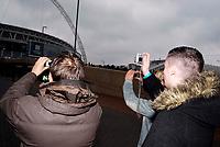 Photo: Alan Crowhurst.<br />England U21 v Italy U21. International Friendly. 24/03/2007. Fans take photos of the stadium.