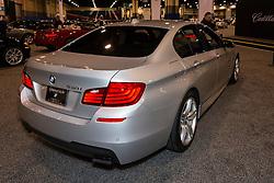 CHARLOTTE, NORTH CAROLINA - NOVEMBER 20, 2014: BMW 530i sedan on display during the 2014 Charlotte International Auto Show at the Charlotte Convention Center.
