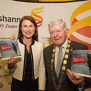 08.12.2016                   <br /> Pictured at the launch of the Shannon Airport Christmas Racing Festival at Hunt Museum were, Mary Considine, Shannon Group and Mayor of the Metropolitan District of Limerick, Cllr. Michael Hourigan. Picture: Alan Place