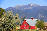 Red Barn in the Bitterroot Valley, Montana.