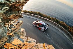 April 7, 2018 - Corse, France - Ott Tanak (EST) - Martin Jarveoja (EST) - Toyota Yaris WRC (Credit Image: © Panoramic via ZUMA Press)
